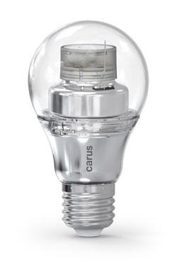 Ampoule LED connectée par bluetooth, Smart Look version chromée. Carus.