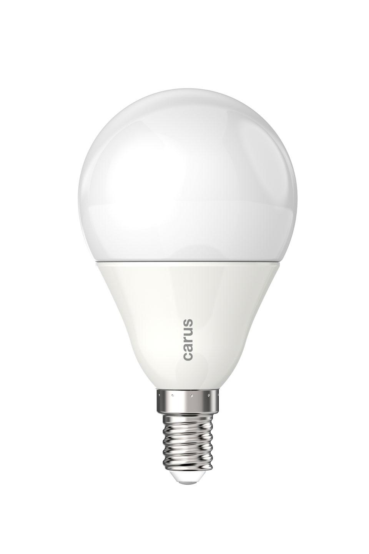 Ampoule LED E14 haute qualité, verre opale. Carus.