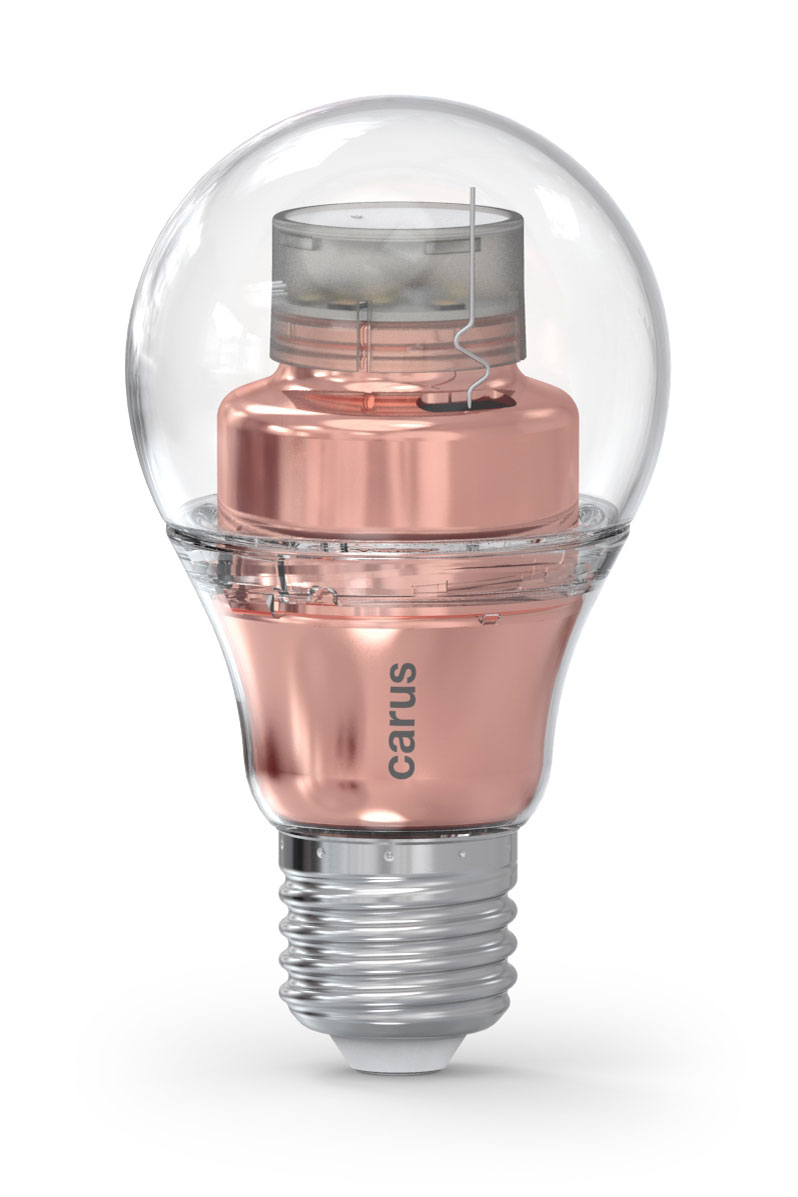 LED bulb connected by bluetooth, Smart Look copper version. Carus.
