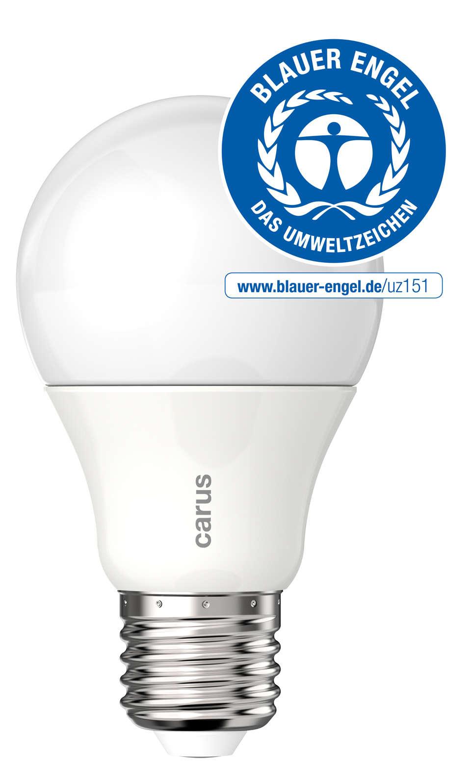 High quality LED bulb 600lm 2700K. Carus.