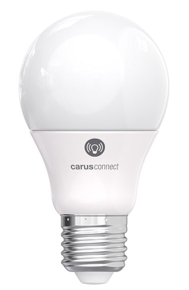 Smart White+ LED bulb connected and very powerful lighting. Carus.