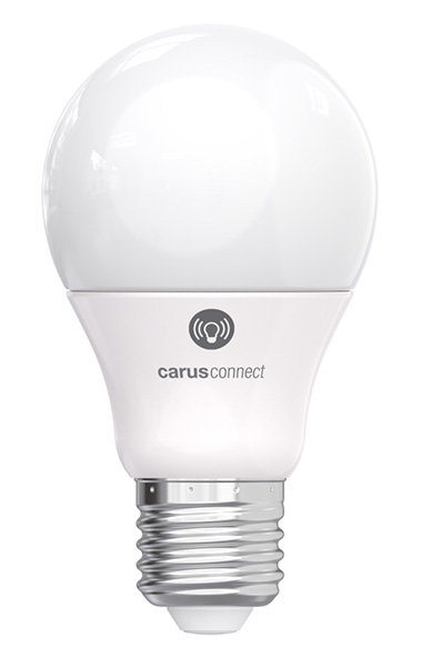 Smart White LED bulb connected by bluetooth, E27 base, opal glass. Carus.