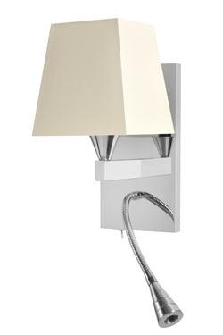 Applique de chevet avec flexible LED finition nickel brillant AL008. Casadisagne.