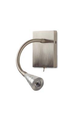 Applique liseuse pour tête de lit à poser en saillie nickel brossé AL39. Casadisagne.