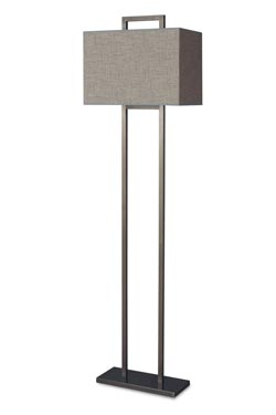 Patinated bronze floor lamp gray shades LD75. Casadisagne.