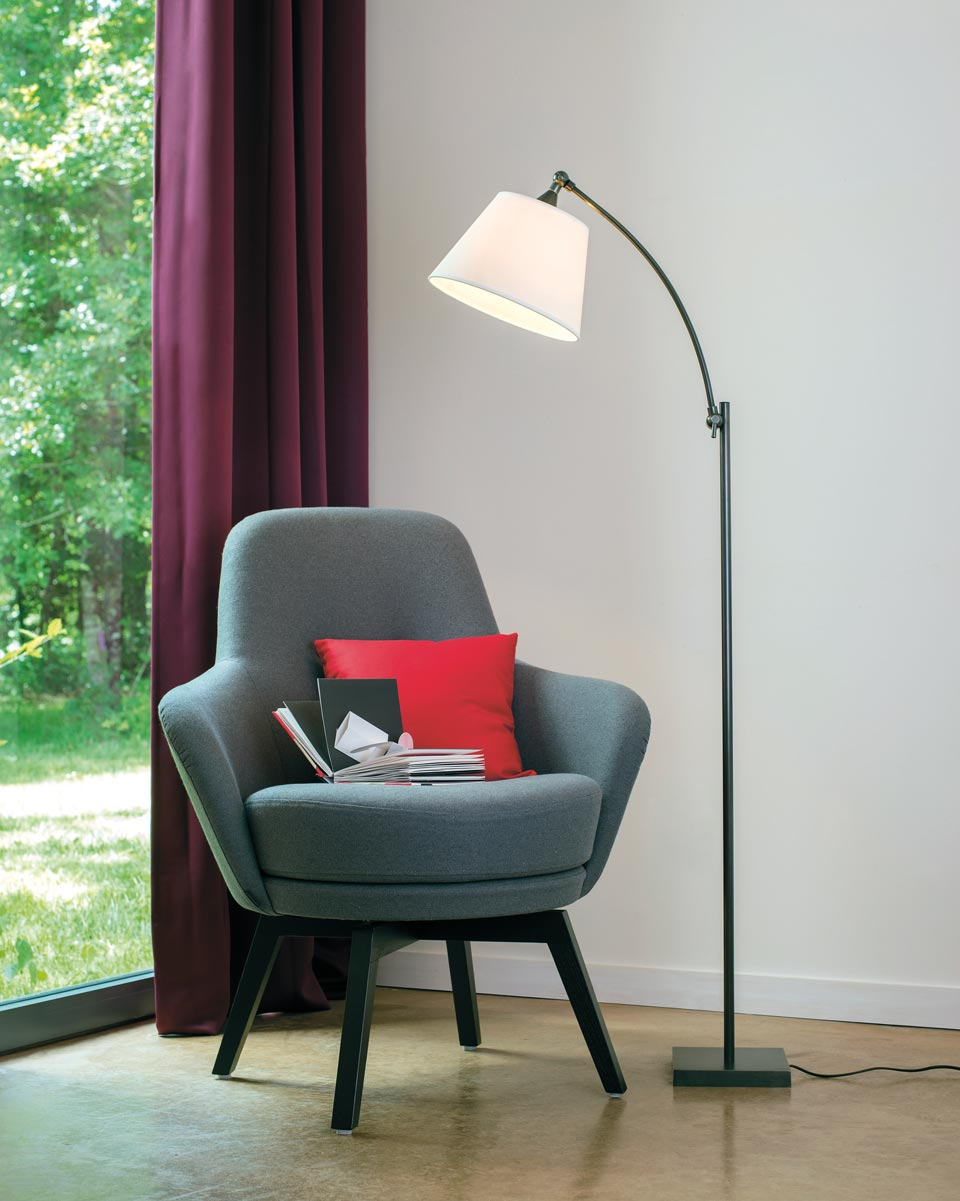 Reading Lamp With Patinated Bronze Stem Ld54 Casadisagne Prestigious Contemporary Lighting Ref 16070035