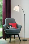 Reading lamp with patinated bronze stem LD54. Casadisagne.