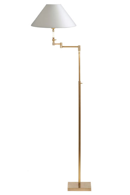 Telescopic reading light golden articulated square foot LD36. Casadisagne.
