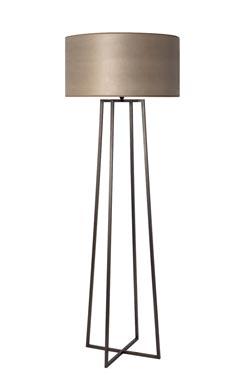 Grand lampadaire quatre pieds reliés en laiton patiné LD76. Casadisagne.