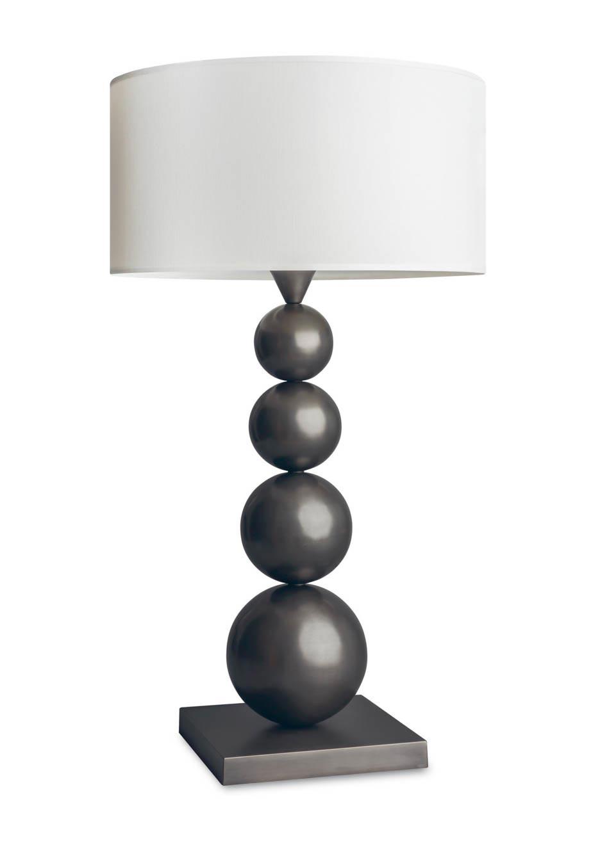 Lampe de table en bronze patiné L155. Casadisagne.
