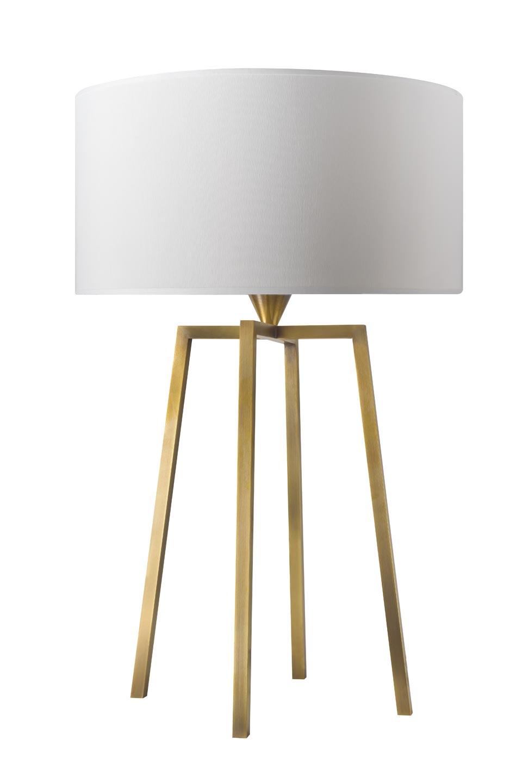 Lampe de table quatre pieds en laiton doré L162. Casadisagne.