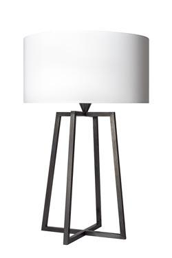 Lampe de table quatre pieds reliés en laiton patiné L176. Casadisagne.