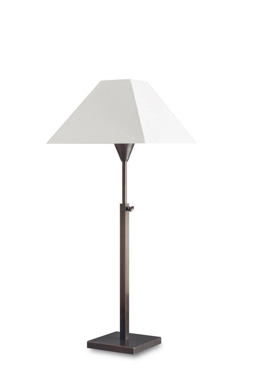 Lampe de table télécospique bronze patiné L97. Casadisagne.