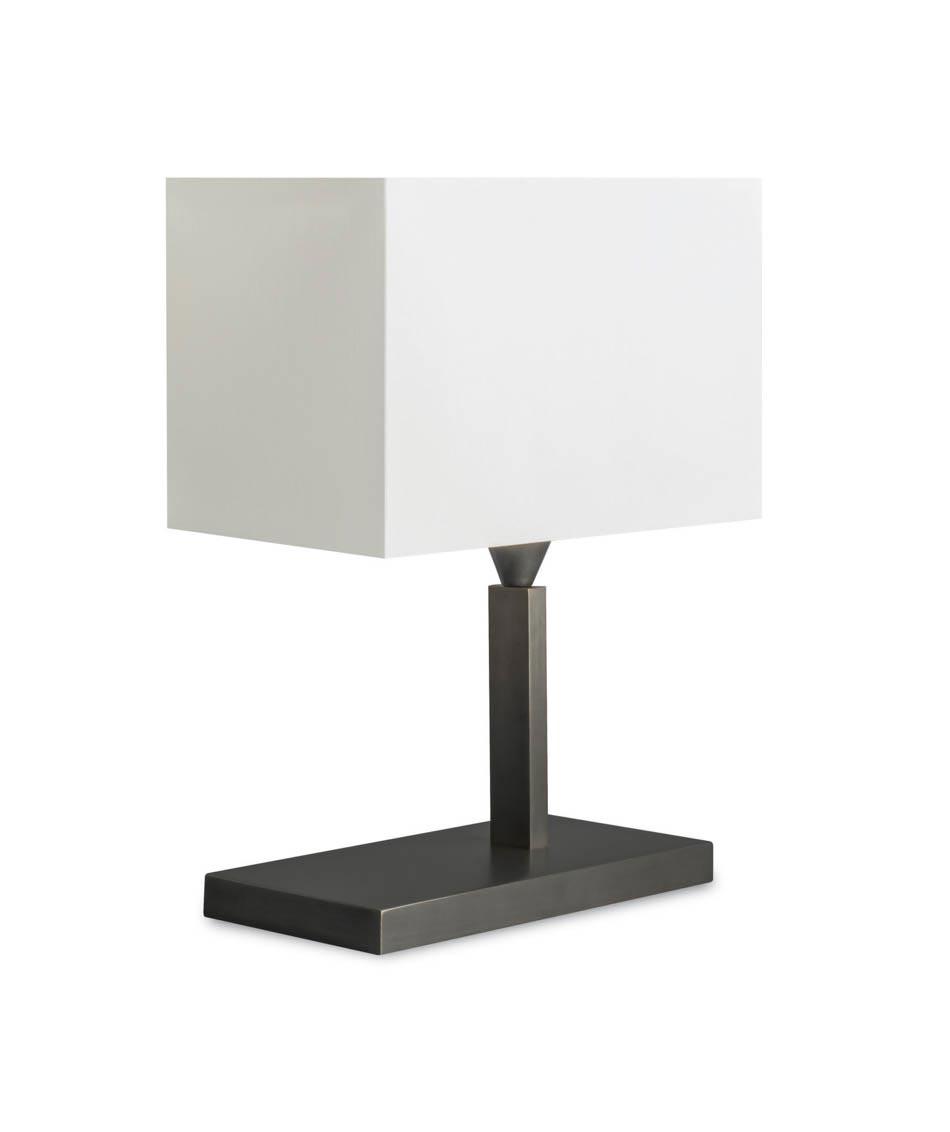 Lampe en bronze et chintz blanc L132. Casadisagne.
