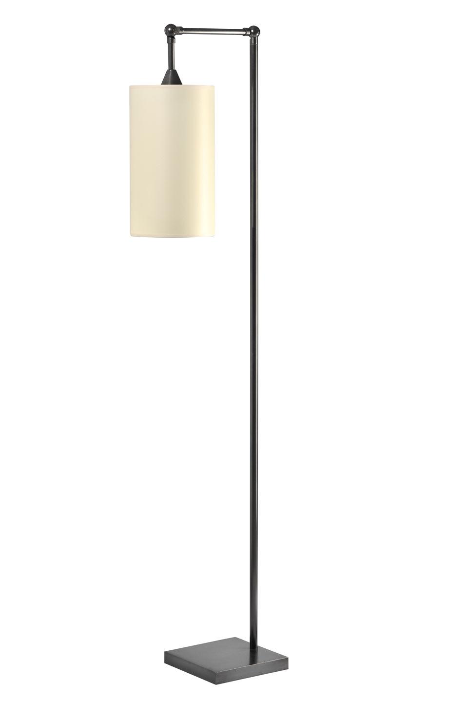 Liseuse articulée en potence abat-jour cylindre patinée noir LD32. Casadisagne.