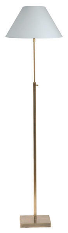 Lampadaire droit téléscopique en tubes ronds doré mat LD22. Casadisagne.