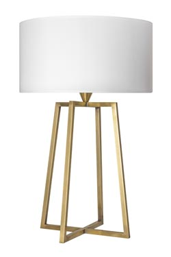 Brass four-legged table lamp L176. Casadisagne.