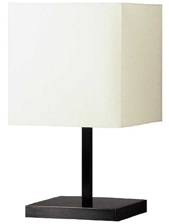 Square Metal Lamp Patinated Black L112, Black Square Base Table Lamp