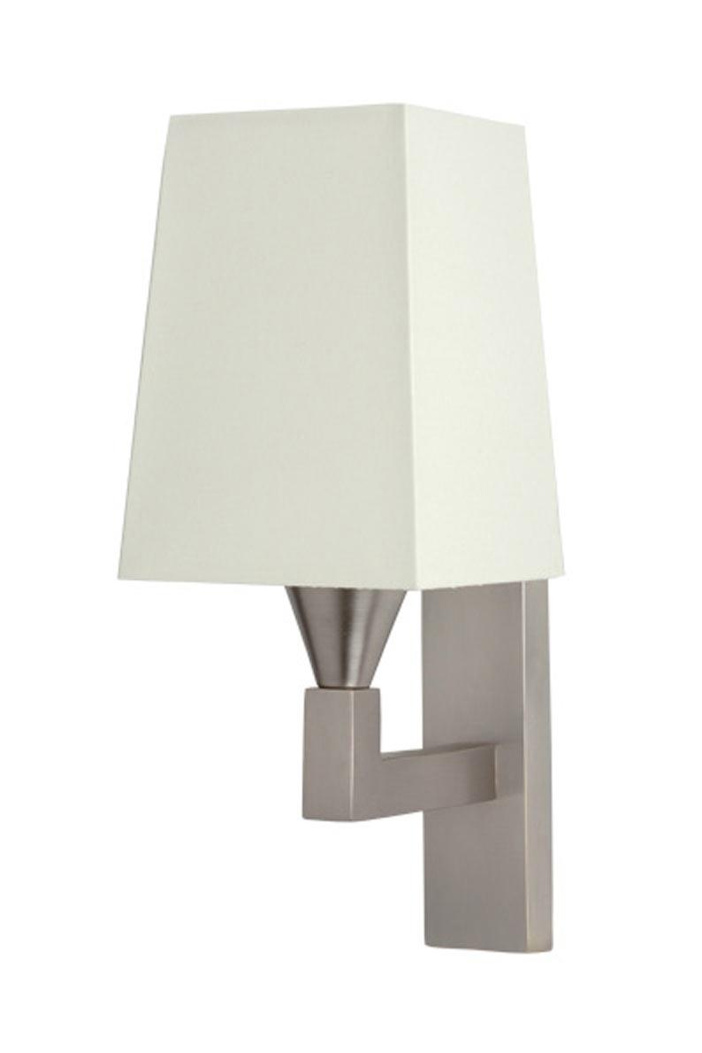 Brushed nickel wall lamp AL001. Casadisagne.