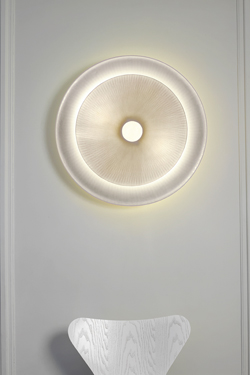 Diva round wall or ceiling lamp small model. Céline Wright.