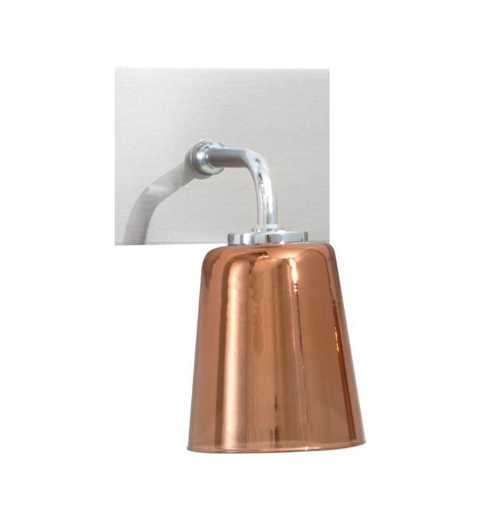 Applique de salle de bains verre cuivré et nickel satiné . Concept Verre.