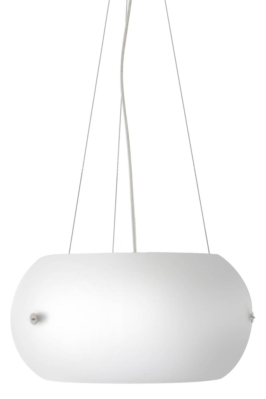 Djumbé suspension en verre acidé blanc. Concept Verre.