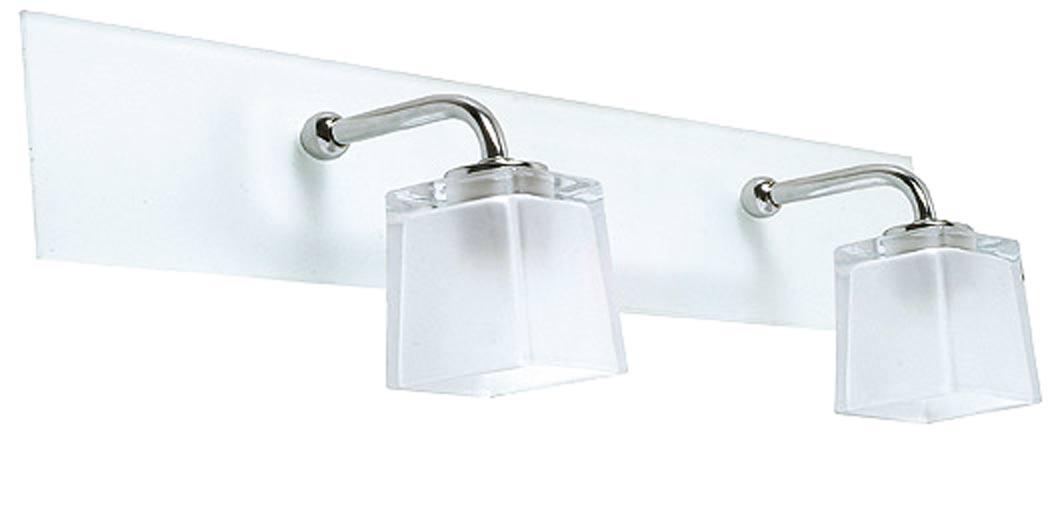 Applique double de salle de bain en verre martelé et verre sablé