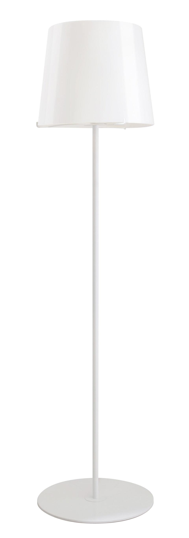 Single White lampadaire blanc avec verrerie blanche. Concept Verre.