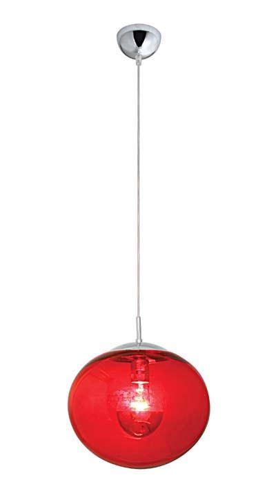 Lux Women Suspension en verre rouge. Concept Verre.