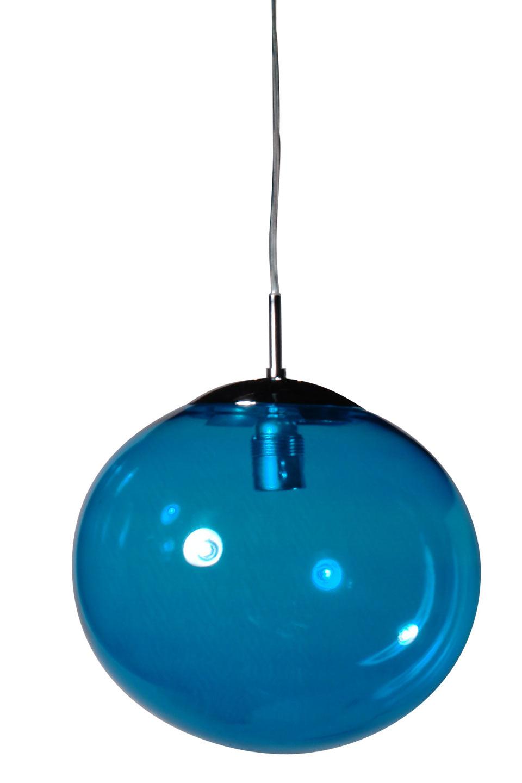 Lux Women suspension simple en verre bleu turquoise. Concept Verre.