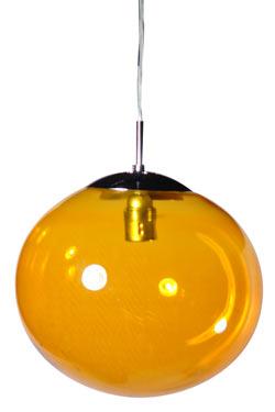 Lux Women suspension simple en verre jaune ambré. Concept Verre.