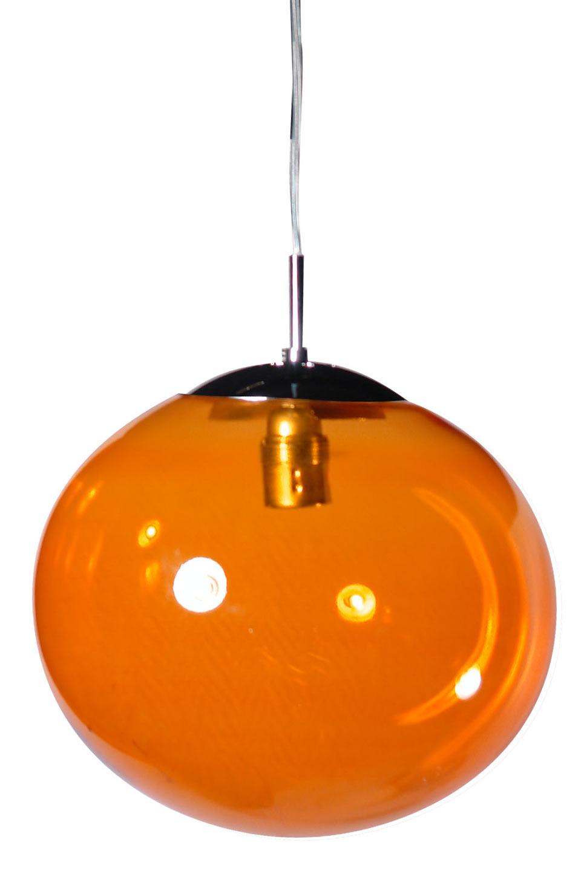 Lux Women suspension simple en verre orange. Concept Verre.
