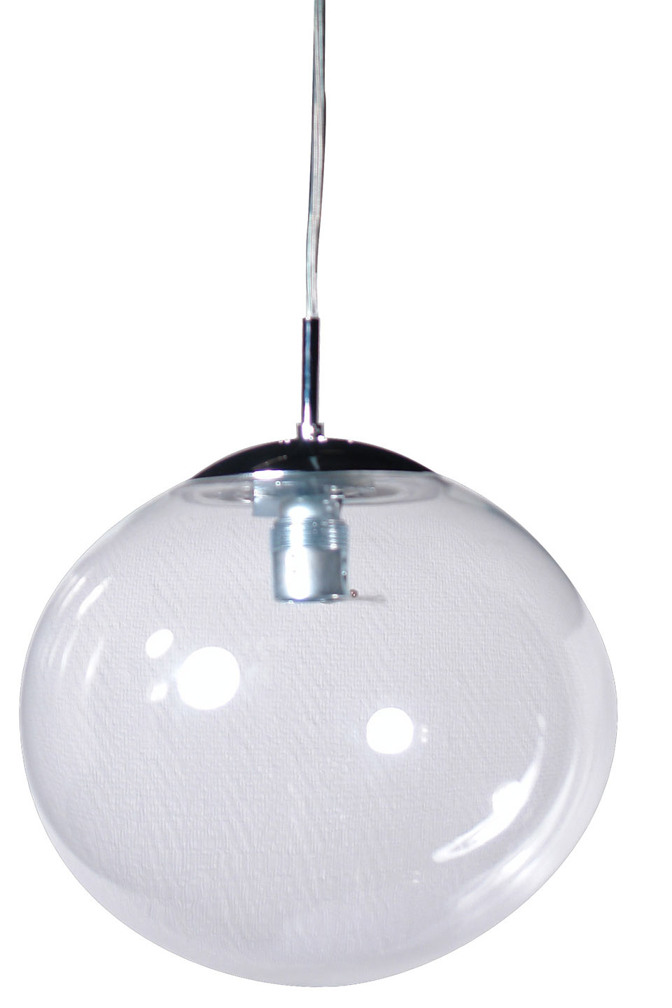 Lux women suspension simple en verre transparent for Lampe de suspension