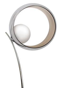 Okio LAMPE A POSER arc verrerie métallisée. Concept Verre.