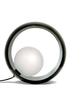 Okio LAMPE A POSER en verre triplex noir. Concept Verre.