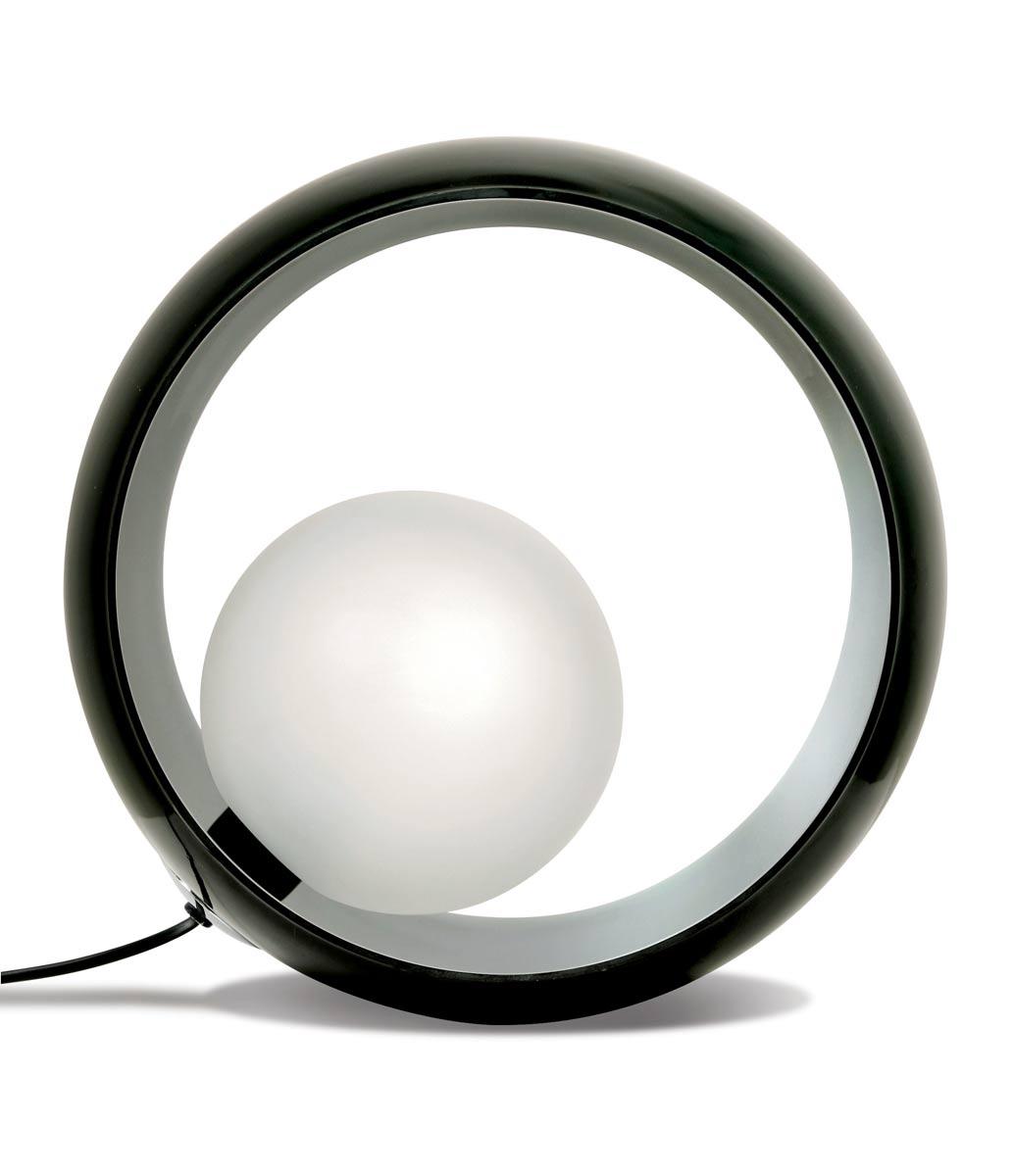 Okio Lampe A Poser En Verre Triplex Noir Luminaire Concept Verre