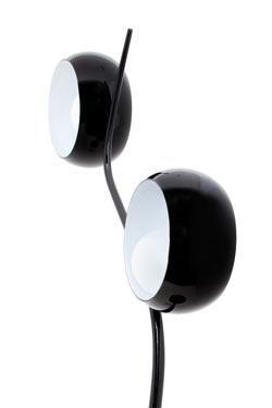 Okio Totem lampadaire noir verreries noires. Concept Verre.