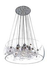 Resonnance pendant 10 balls and 4 bulbs. Concept Verre.