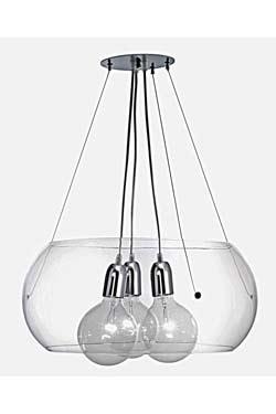 Prélude suspension avec 3 ampoules. Concept Verre.