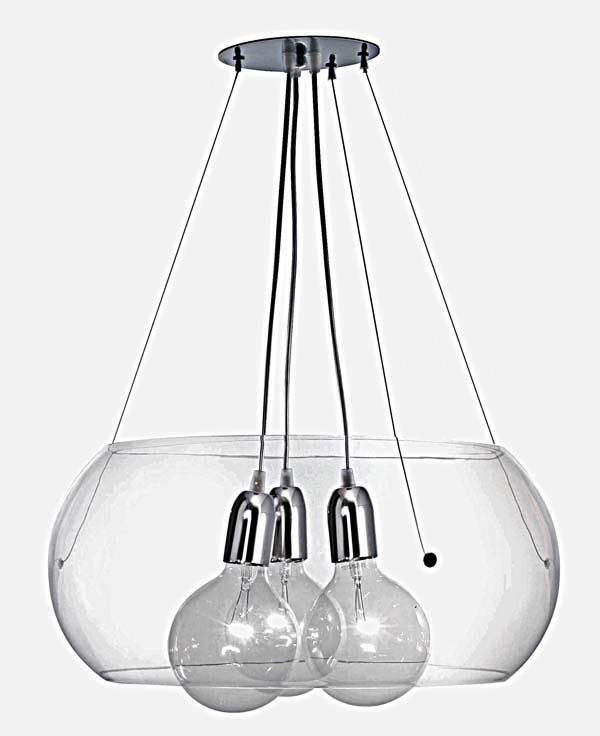 Pr lude suspension avec 3 ampoules luminaire concept for Suspension 4 ampoules