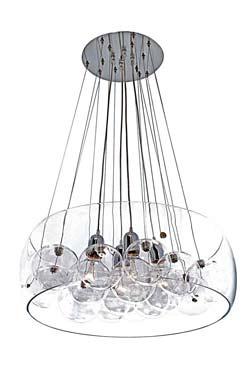 Résonnance 10 boules et 4 ampoules. Concept Verre.