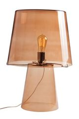Hermes retro table lamp in brown glass. Concept Verre.
