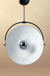Black metal ceiling light with adjustable reflector. Contract&More.