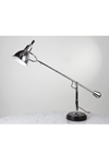 Desk lamp E. Buquet in chromed metal and black wooden base. Contract&More.