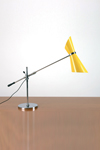 Stilnovo 1950 yellow metal desk lamp. Contract&More.