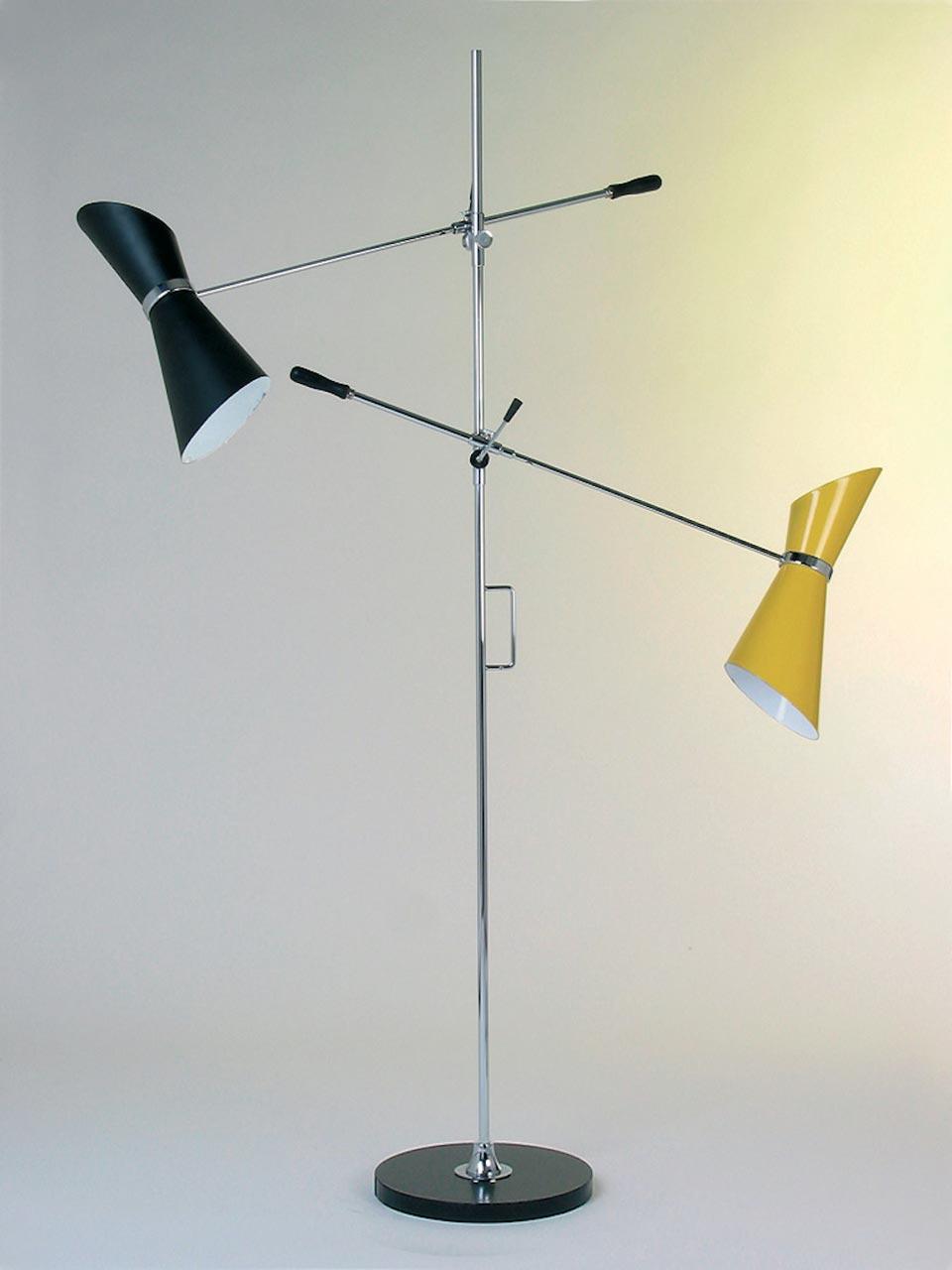 Floor Lamp And Adjule Arms