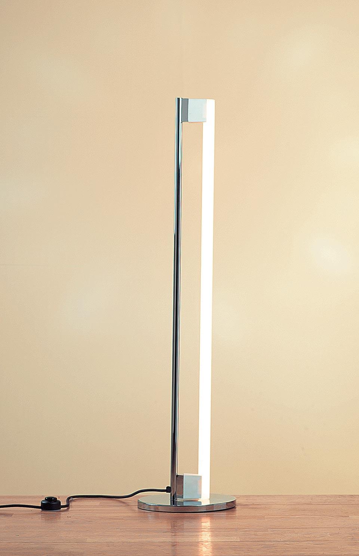 newest e057f 301b5 Floor lamp in solid chromed steel, white incandescent tube