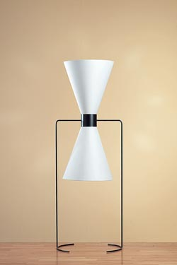 Small black and white design floor lamp. Contract&More.