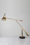 Grande lampe de bureau EB27 Design E. Buquet en laiton poli . Contract&More.