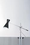 Lampe de bureau double cône noir Stilnovo 1950. Contract&More.
